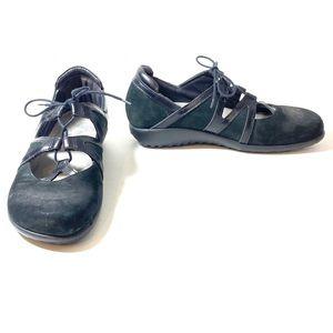 Naot Women's Timu Black Lace Up Flats